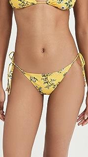 Tory Burch Printed String Bikini Bottoms