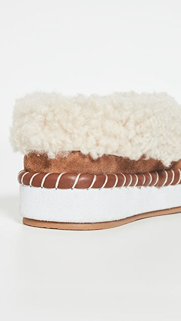 Tory Burch Shearling Slippers