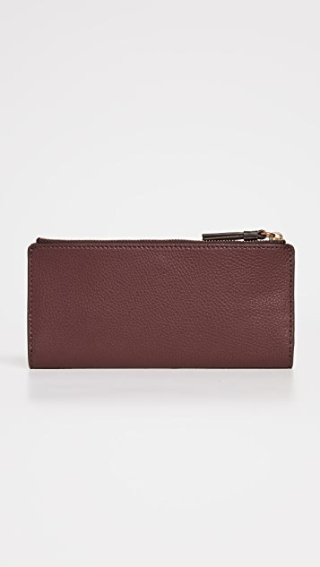 Tory Burch Walker Zip Slim Wallet