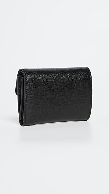 Tory Burch Robinson Flap Mini Wallet