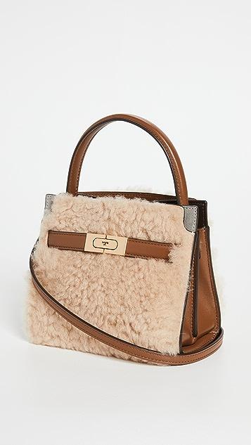 Tory Burch Lee Radziwill Shearling Petite Double Bag