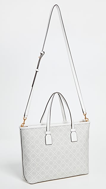 Tory Burch T Monogram Coated Canvas Small Tote
