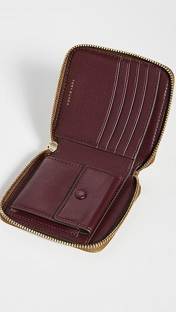 Tory Burch T Monogram Jacquard Bi-Fold Wallet