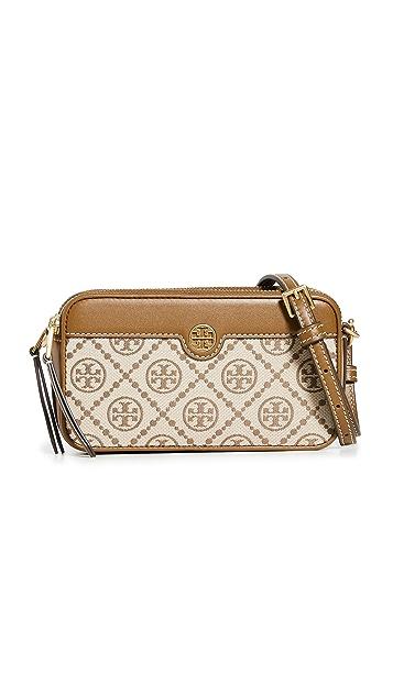 Tory Burch T Monogram Jacquard Double Zip Mini Bag