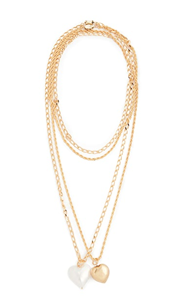 经典珠光 分层金项链