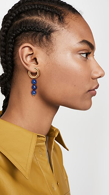 Timeless Pearly Blue Hoops