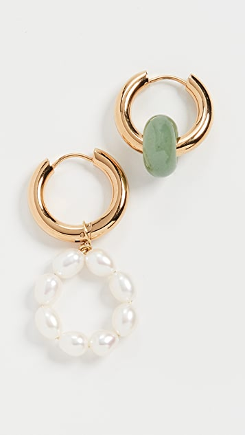 Timeless Pearly Pearl Hoops