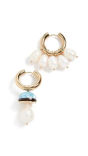经典珠光 珍珠圈式耳环