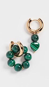 Timeless Pearly Green Hoops