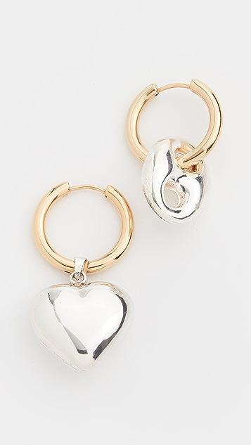 经典珠光 双色圈式耳环