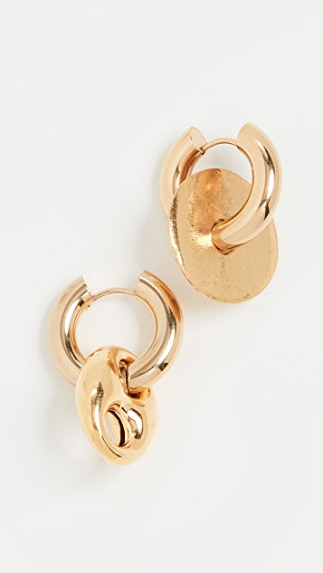 Timeless Pearly Gold Hoops