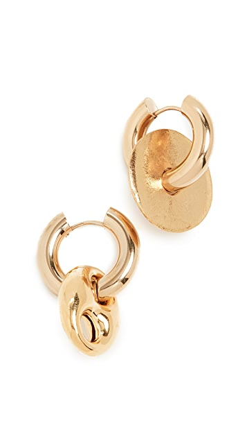 经典珠光 金制圈式耳环