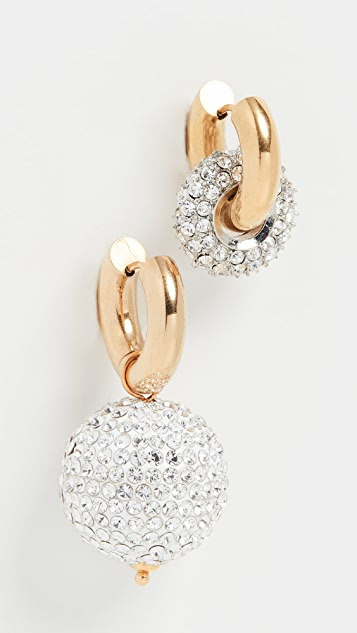 Timeless Pearly Crystal Hoops