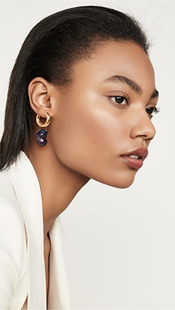 Timeless Pearly Mix and Match Gold Plated Hoops