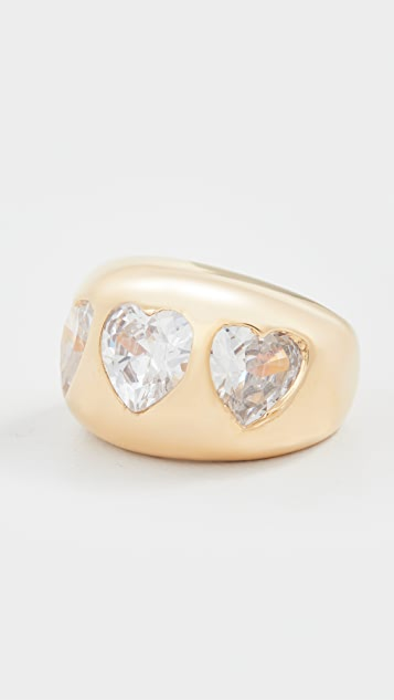 Timeless Pearly Heart Ring