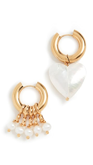 Timeless Pearly Heart Pearl Set