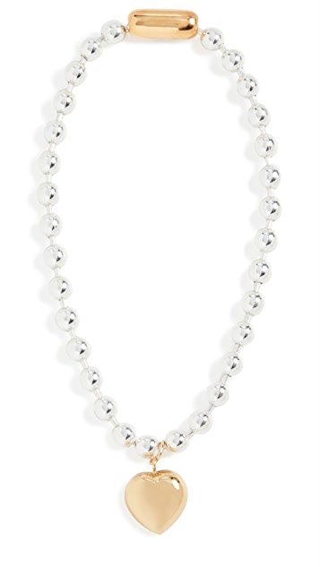 Timeless Pearly Necklace with Heart Pendant