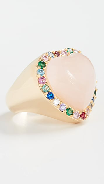 Timeless Pearly Heart Shaped Ring