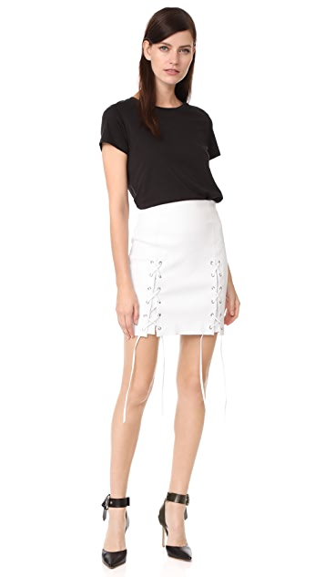 ThePerfext Laced Hem Miniskirt