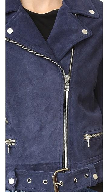 ThePerfext Suede Moto Jacket