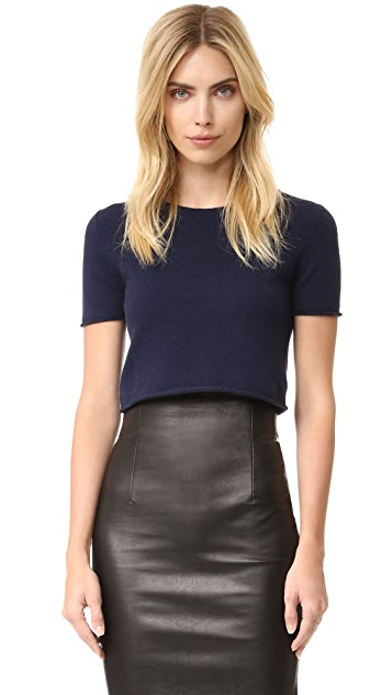 ThePerfext Cropped Short Sleeve Sweater