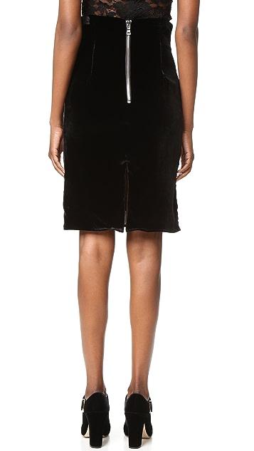 ThePerfext Amsterdam Velvet Skirt