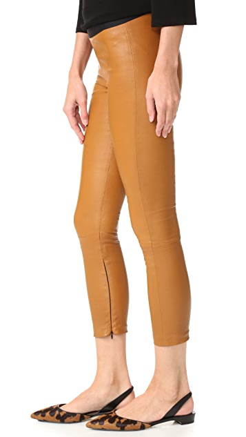 ThePerfext Brittany Cropped Leather Pants