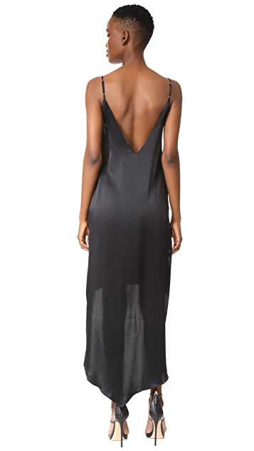 ThePerfext High-Low Silk Dress