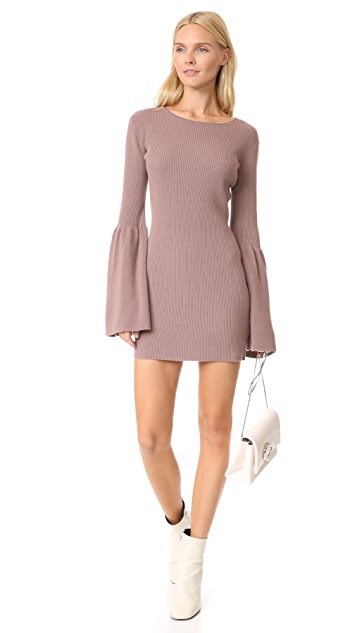 ThePerfext Bell Sleeve Cashmere Dress
