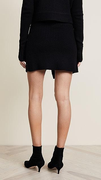 ThePerfext Cross Front Miniskirt