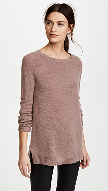 ThePerfext Cashmere Sweater Tunic - Rose