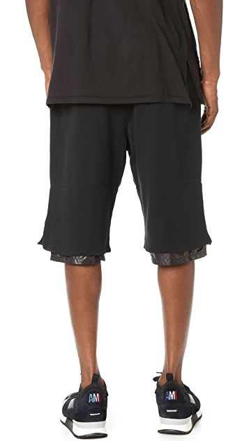 3.1 Phillip Lim Nylon Combo Classic Leisure Shorts