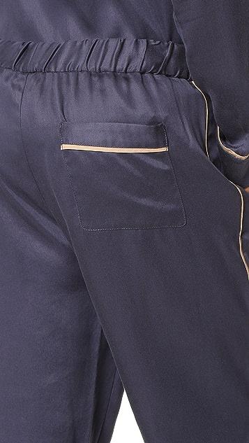 3.1 Phillip Lim Cropped Elastic Waist Pajama Pants