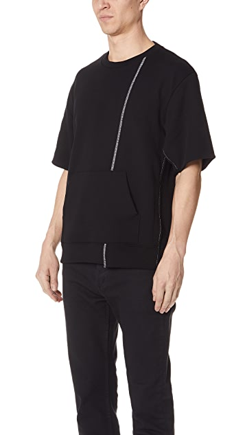 3.1 Phillip Lim Short Sleeve Reconstructed Sweatshirt