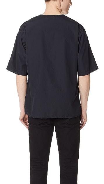3.1 Phillip Lim V Neck Button Down Shirt