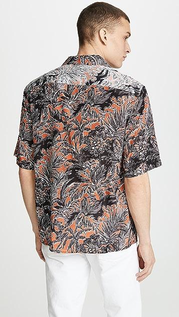 3.1 Phillip Lim Short Sleeve Souvenir Shirt - Palm Tree Floral