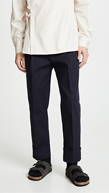 3.1 Phillip Lim Single Pleat Trousers with Wide Cuffs