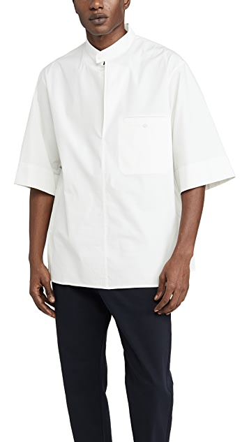 3.1 Phillip Lim Oversized Washed Poplin Brand Collar Shirt