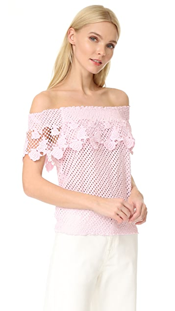 Temptation Positano Lace Off Shoulder Blouse