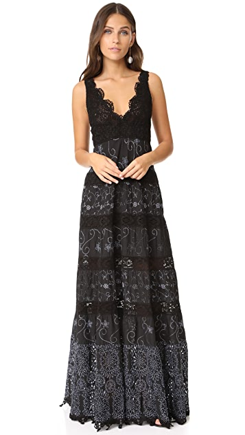 Temptation Positano Long Dress with Embroidery