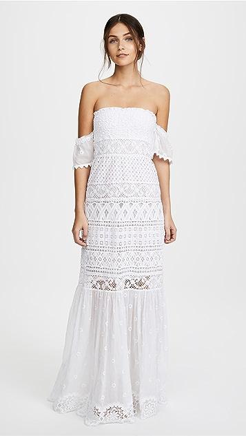 Temptation Positano Bora Bora Long Strapless Dress - White