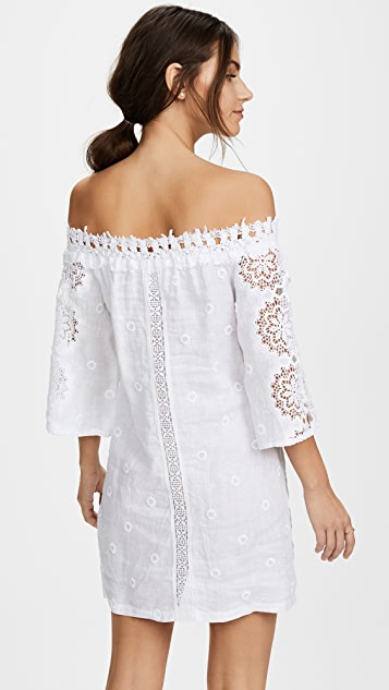 Temptation Positano Palau Off the Shoulder Tunic Dress