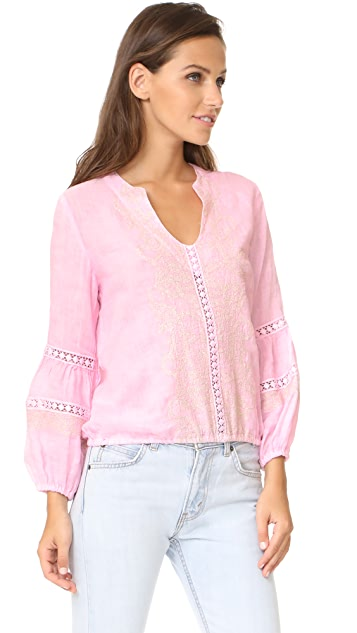 Temptation Positano Embroidered Blouse