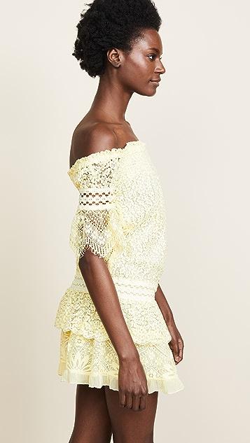 Temptation Positano Off Shoulder Dropwaist Dress