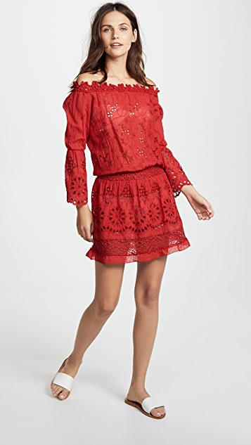 Temptation Positano Flare Sleeve Drop Waist Dress