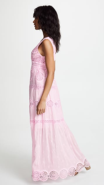 Temptation Positano Maldive Long V Neck Dress