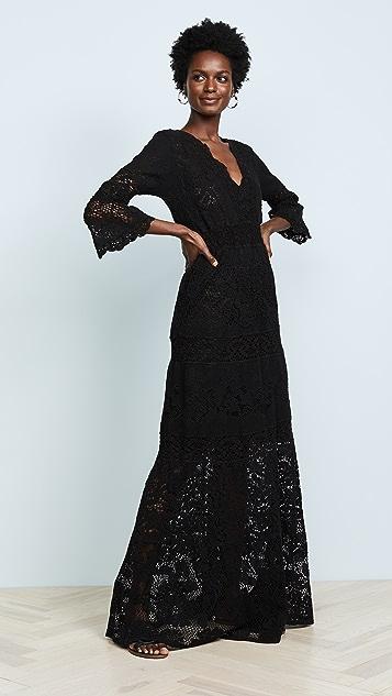 Temptation Positano Caledonia V Neck Long Sleeve Dress