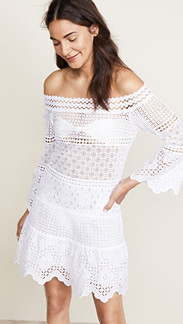 Temptation Positano Guinea Flare Sleeve Knee Dress