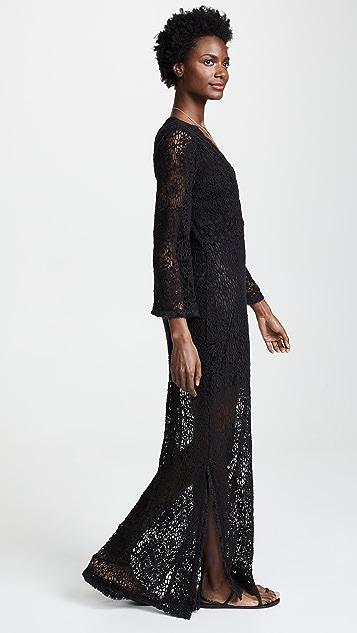 Temptation Positano Rennel Long Sleeve Crochet Dress