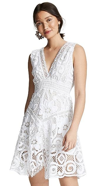 Temptation Positano Короткое платье Pavia с V-образным вырезом
